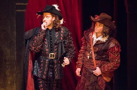 Tobias Greenhalgh plays Don Giovanni and Zachary Altman is Leporello.