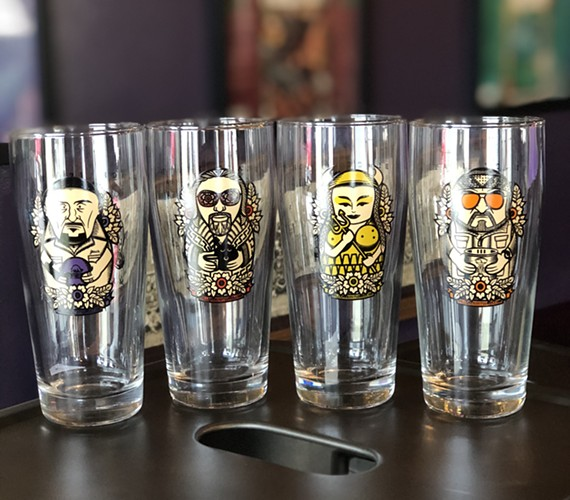 A signature Lebowski-themed glass is being offered every Tuesday at Black Heath Meadery through January.