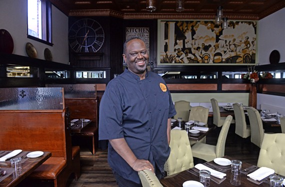 Hall at his Fan District restaurant, Spoonbread Bistro.