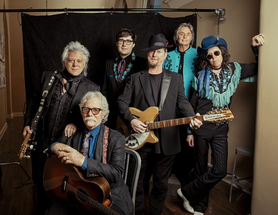 "Former members of the Byrds performed ""Sweetheart of the Rodeo"" for its 50th anniversary with Marty Stuart and the Superlatives at the Beacon Theatre in Hopewell, Va."