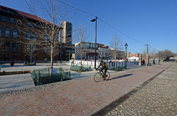 A renovation of the 17th Street Farmers' Market includes handsome new pavement, open spaces and shade trees.