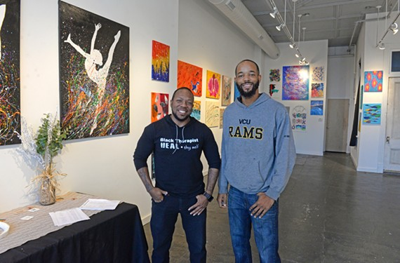 James Harris and Ajay Brewer opened The Well Art Gallery on Hull St.