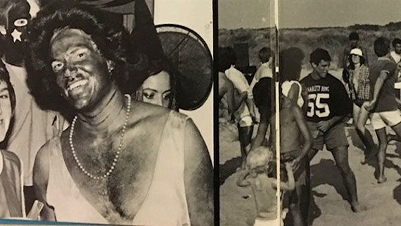 "A photo in the 1984 EVMS yearbook shows a man who appears to be in blackface dressed as a woman with caption: ""Who ever thought Diana Ross would make it to medical school?"""