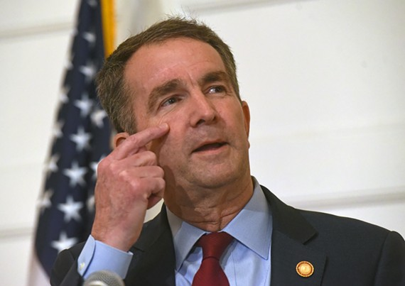 Virginia Gov. Ralph Northam shown during his bizarre Feb. 2 press conference that would only increase widespread calls for his resignation around the country.