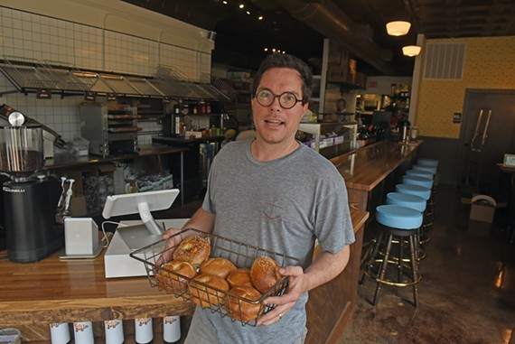 Nate Mathews, owner of Nate's Bagels.