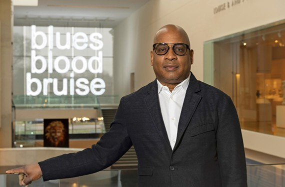 New York-based conceptual artist Glenn Ligon helped VMFA kick off its Black History Month activities Feb. 8.
