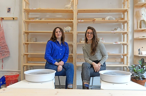 Emily Wicks and Alexis Courtney met in the clay studio at the Visual Arts Center of Richmond and soon earned a grant from CultureWorks to help them open their own studio.