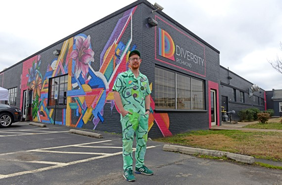 "Cross-disciplinary artist Aaron McIntosh, a fiber professor at VCU, has an exhibit ""Invasive Queer Kudzu: Richmond"" opening late this month at 1708 Gallery."