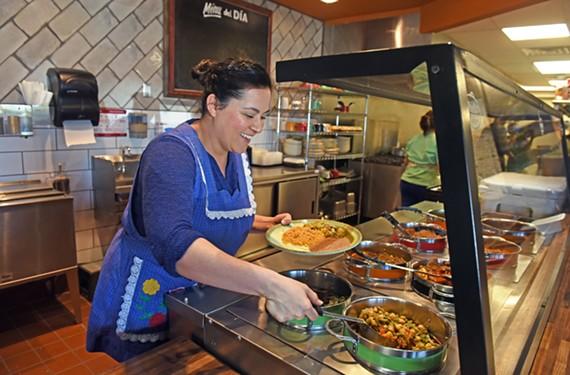 Owner Karina Benavides serves up classic Mexican stews and sides at Abuelita's.