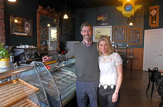 New owners Mike Wilbert and Caitlin Kilcoin will soon reopen Stoplight Gelato Cafe with a more expansive menu including pizza, beer and wine.