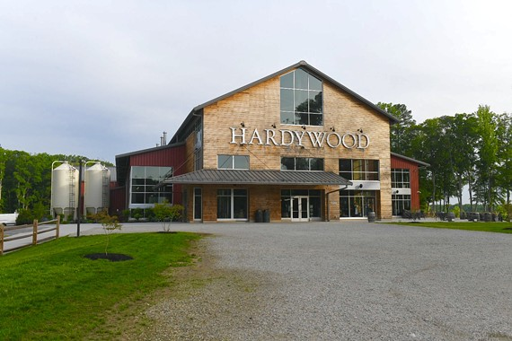 Hardywood West Creek, overlooking Tuckahoe Creek, opened in early 2018.