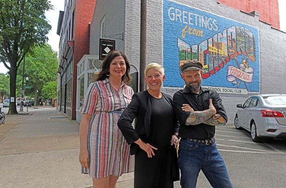 Shannon O'Neill, public liaison officer for the Downtown Neighborhood Association and coordinator of First Fridays, marketer Liz Kincaid of RVA Hospitality Group and Gallery5 co-founder Parker Galore are working to make sure the Richmond Arts District continues to grow in a balanced and respectful fashion.