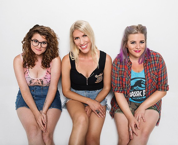 The Lady 2 Lady podcast from LA (from left: Barbara Grey, Tess Barker, Brandie Posey) is one of the headliners for Coalition Theater's 2nd Best Comedy Fest, which starts today and runs through Saturday.