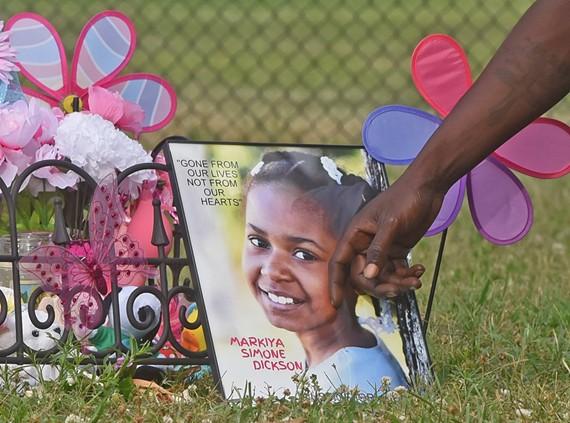 A memorial for 9-year-old Markiya Simone Dickson took place at Carter Jones Park on the evening of Thursday, June 6.