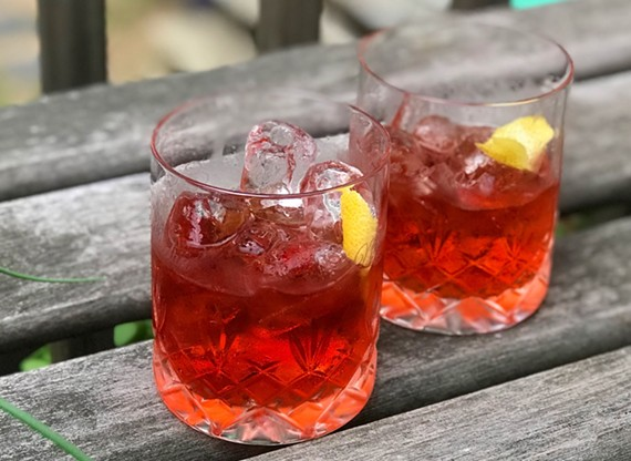 A classic Negroni features Campari, gin and vermouth.