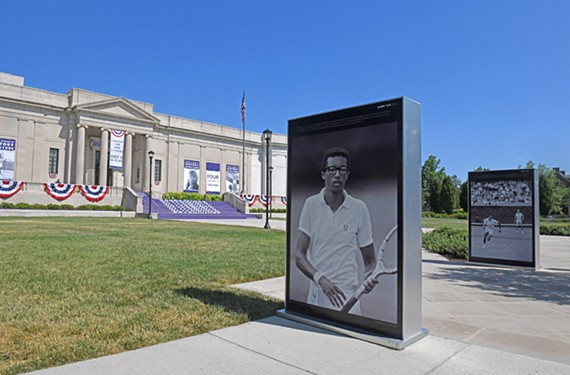 The Virginia Museum of History & Culture hosted the Arthur Ashe Boulevard renaming ceremony June 22. This building served as the Confederate Memorial Institute until 1948. The museum continues to re-evaluate its Lost Cause roots in new exhibits.