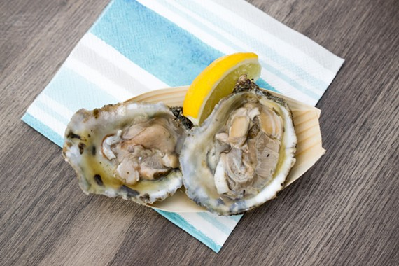 The West oysters at the Boathouse are salty with a rich, butter-like finish.