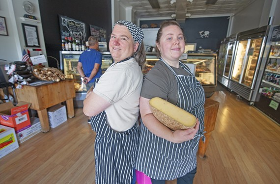 Owner Tanya Cauthen and cheesemonger Molly Ellis pride themselves on making Belmont Butchery stand out in a male-dominated industry.
