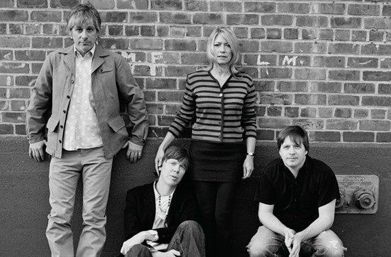 Sonic Youth are Lee Renaldo (guitar), Thurston Moore (guitar/vocals), Kim Gordon (bass/vocals) and Steve Shelley (drums).