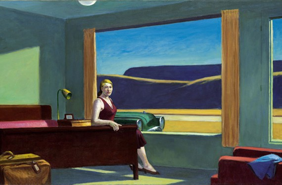 """Western Motel"" a signature oil painting by Edward Hopper from 1957. ""Edward Hopper and the American Hotel"" runs at VMFA from Oct. 26 to Feb. 23."