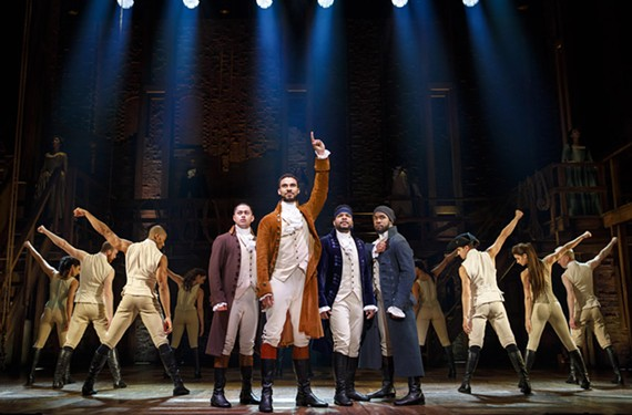 "Broadway in Richmond presents the touring production of the New York-centric smash hit musical, ""Hamilton,"" running Nov. 19 through Dec. 8 at Altria Theater. Best of luck finding tickets for this one, folks."