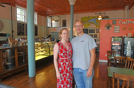 Tasha Bobrosky and Brian Colegrove, who recently opened Riverbend Coffee Co., want to breathe new life into the old Captain Buzzy's Beanery space.