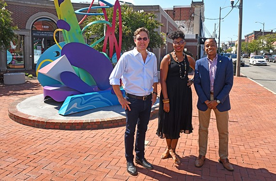 Charlie Westbrook, Sheri Shannon and Preston Page have come together to form Hull Street Action, an advocacy group seeking to bring together long-term residents and business owners.