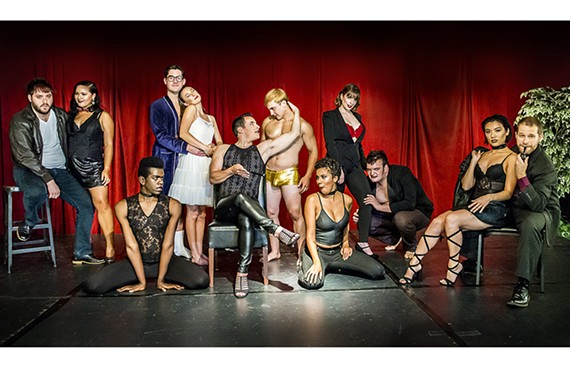 "The colorful cast of Richmond Triangle Players' ""Rocky Horror Show,"" which had sold out its short run as of press time."