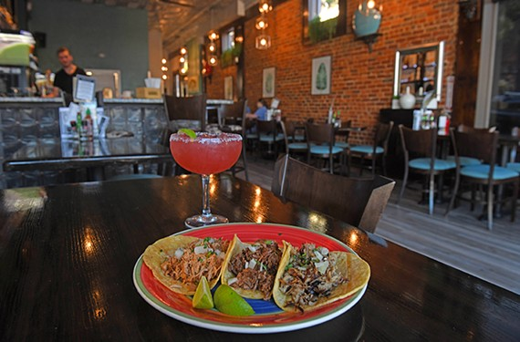 Street tacos and a strawberry margarita from the Annex on Main Street.