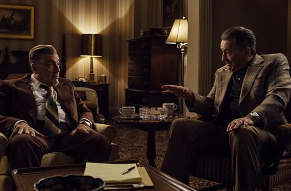 "Al Pacino and Robert De Niro star in ""The Irishman,"" the latest film by Martin Scorsese."