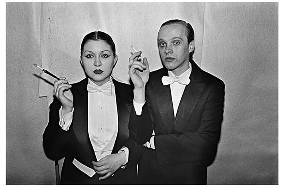 An image of a couple at legendary New York night club, Studio 54, taken by photographer Bill Bernstein.