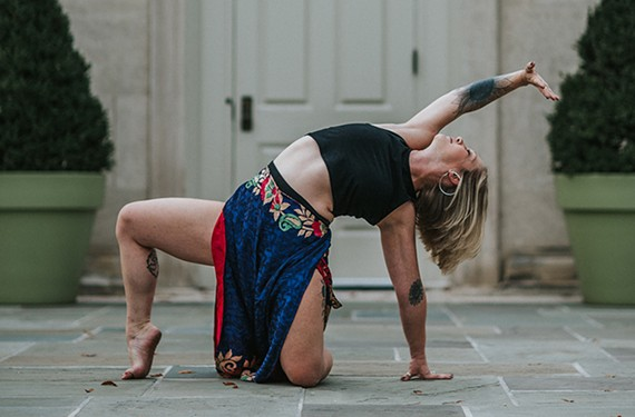 A nominee photo of dancer Jess Burgess, the executive director of Dogtown Dance Theatre.