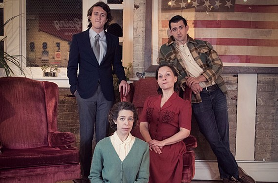 "Cooper Sved, Louise Keeton,  Lian-Marie Holmes and Matt Bloch star in ""The Glass Menagerie"" from Fifth Wall Theatre."