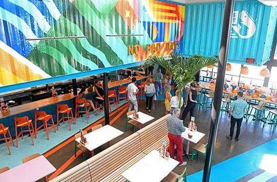 A look inside the colorful interior of Island Shrimp Co. at 11500 Midlothian Turnpike.