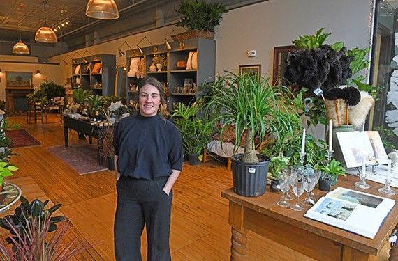 Audie McDougall operates a home goods store, the Someday Shop, on Broad Street.