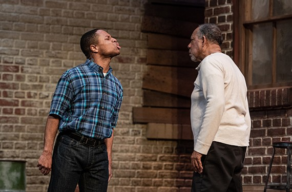 "Jamar Jones and James Craven star in Virginia Repertory Theatre's ""Fences,"" directed by Tawnya Pettiford-Wates."