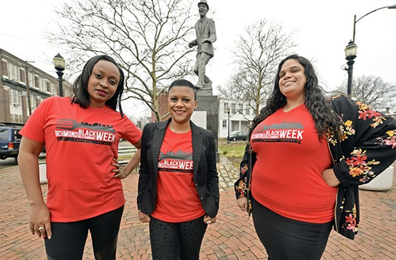 Shemicia Brown, Kelli Lemon and Amy Wentz are co-organizers of the Richmond Black Restaurant Experience, running March 1 through 8 (photo from two years ago).