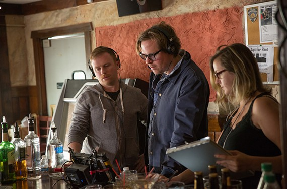"Richmond native and producer Michael Gottwald, director Geremy Jasper and script supervisor Kim Rideout working on the film ""Patti Cake$."""