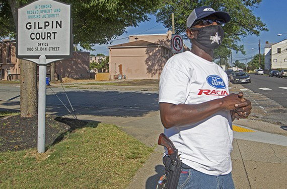 """Gilpin Court resident Leander Vinson says he's less concerned with Confederate statues than he is with """"the way police officers approach men of color,"""" especially in his neighborhood."""