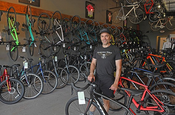 Tim Mullins is one of the owners of local favorite Carytown Bicycle Co.