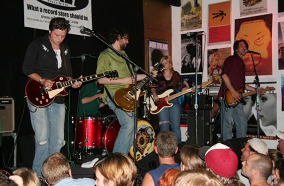 """Southern rockers the Drive-By Truckers perform for around 200 people at the old Plan 9 location in Carytown in 2006. The cover of its new four-record vinyl set, """"Plan 9 Records July 13, 2006"""" is designed like an old-school bootleg."""