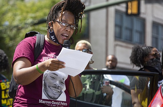 Princess Blanding, the sister of Marcus-David Peters, has been at the forefront of protests regarding police reform.