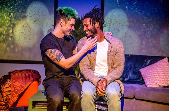"""Evan Nasteff and Andrew """"Rou"""" Reid star in """"This Bitter Earth"""" which runs until Feb. 19 at the Robert B. Moss Theatre."""