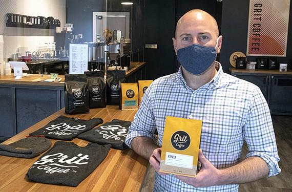 Grit Coffee owner Dan FitzHenry.