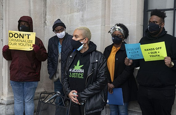 Chelsea Higgs Wise, who leads the advocacy group Marijuana Justice, speaks out against racial inequities she sees in Virginia's new marijuana legalization laws.