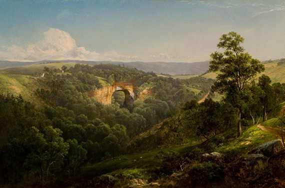 """Natural Bridge, Virginia,"" 1860, by David Johnson (American 1827–1908), oil on canvas."