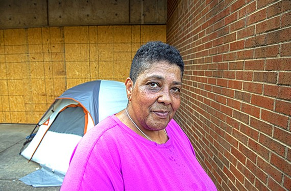 Rhonda Sneed, co-founder of Camp Cathy, a former tent city for the homeless on Oliver Hill Way that was dismantled in March 2020.