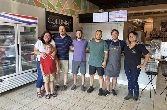 Left to right: Polpetti's Georgia Riccobono, Quinn Riccobono, Peter Riccobono; Auntie Ning's Zachary Brenner, Frederico Enriquez andJustin Shaw; and Column 15's Victoria Goldsby.