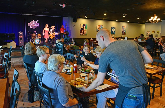 Cha Cha's Cadillac entertains diners at Tin Pan Restaurant and Lounge, where the food is just as important as the music.