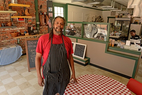 Anthony Tucker of Nomad's Deli is bringing fresh sandwiches and salads to Brookland Park Boulevard.